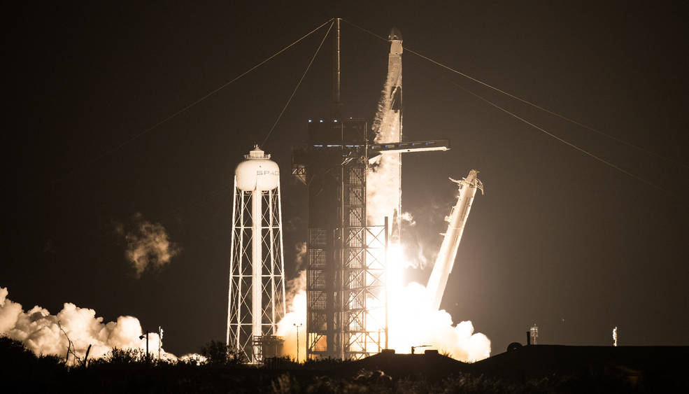 SpaceX Falcon 9 rocket carrying NASA's SpaceX Crew-1 mission