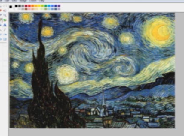 Microsoft Flaunts Vincent Van Gogh's Starry Night in Microsoft Paint Keeping the Artist a Secret: April Fools' Day Joke?