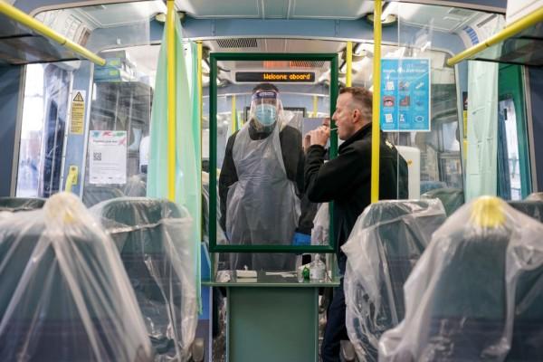 Railway Staff Get Covid Tested Inside A Brighton Train Carriage