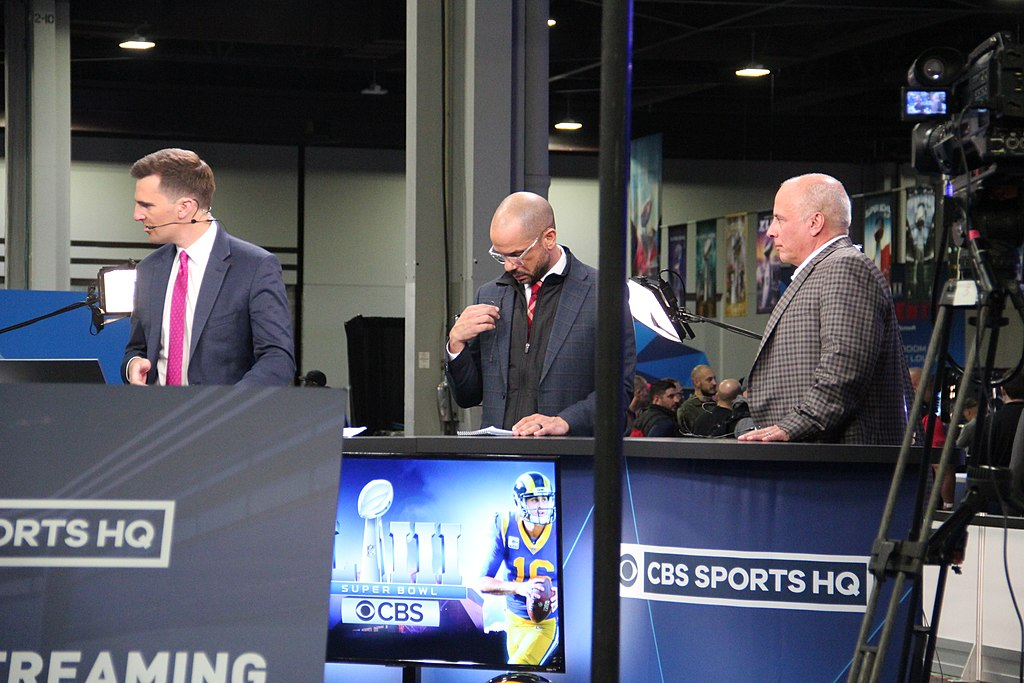 Anchors at the CBS Sports HQ desk