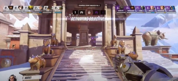 Playing 'Overwatch'