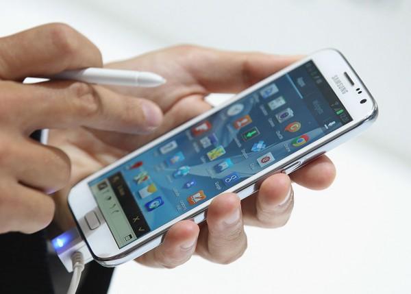 Samsung Galaxy Note II at the IFA 2012 Consumer Electronics Trade Fair