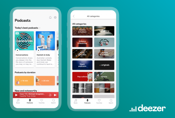Deezer Podcast Tab - Now Available in Asia, Africa, and Oceania