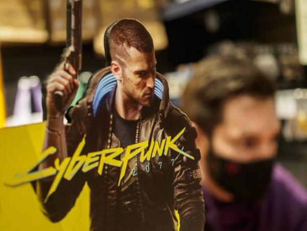 cyberpunk 2077 at a game store