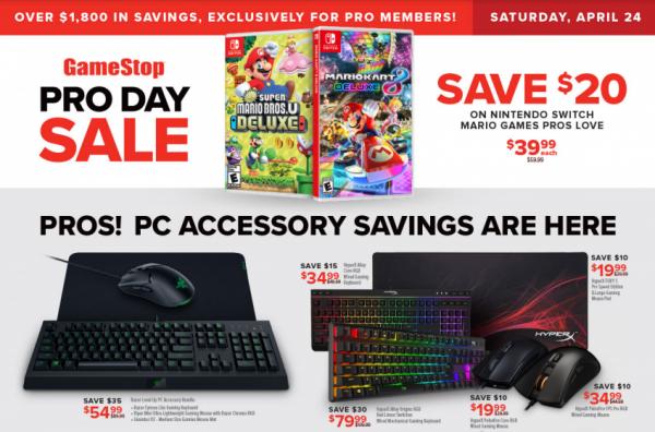 GameStop Pro Day Sale Banner