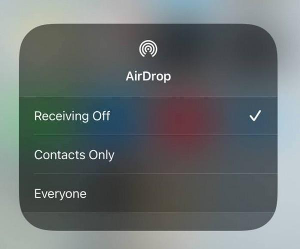 AirDrop Settings