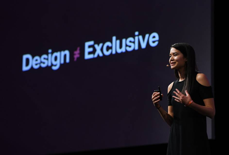 canva ceo and founder melanie perkins speaking