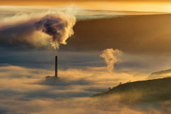 climate change is largely caused by human pollution