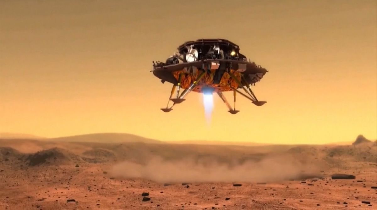 China's Tianwen-1 Spacecraft Successfully Lands Zhurong on Utopia Planitia on Mars