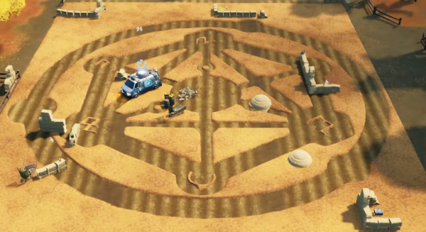 Fortnite Crop Circles in Colossal Crops
