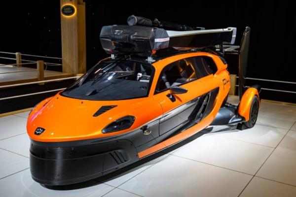 Flying car orange
