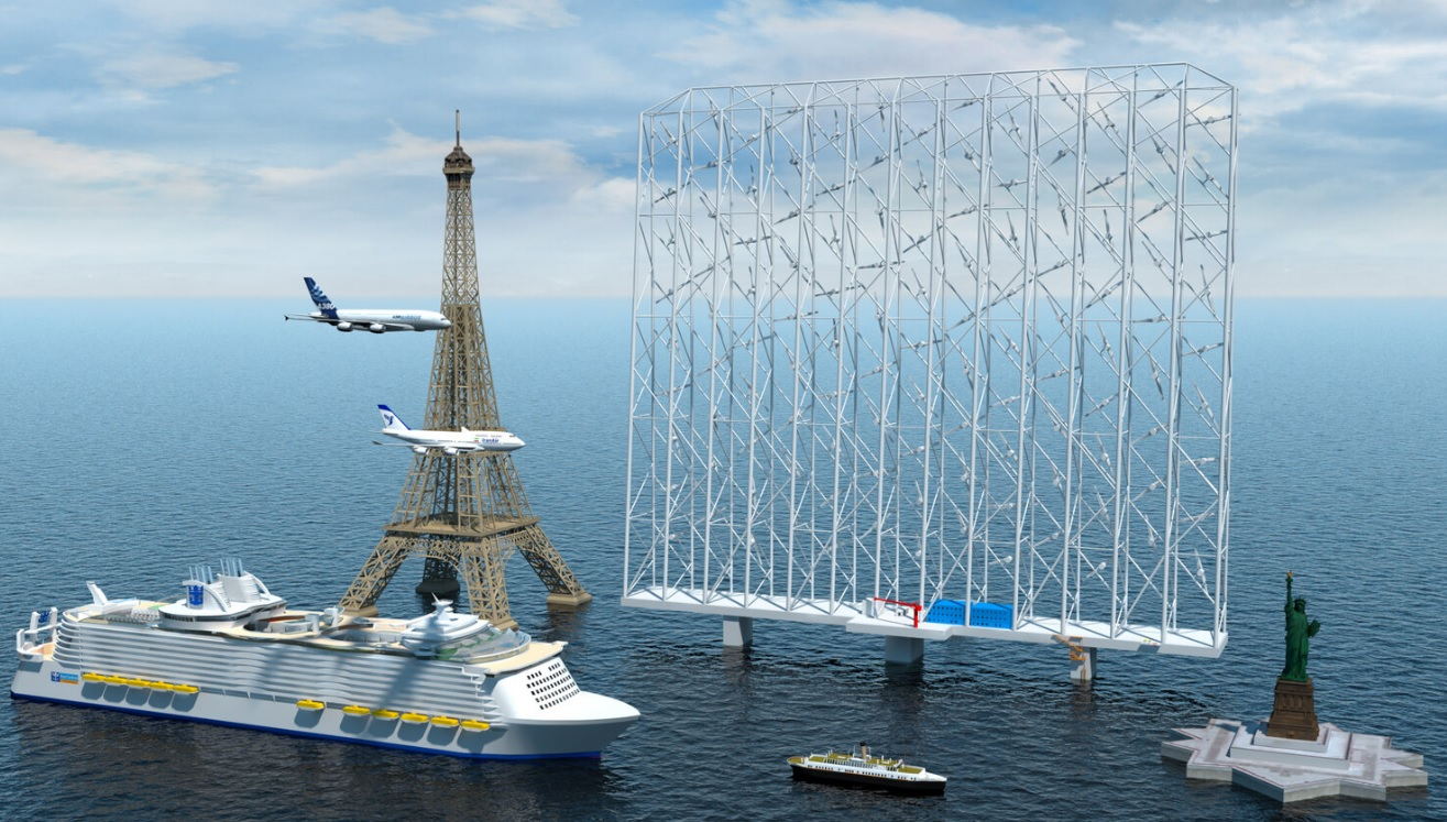 'Windcatcher:' Environment-Saving Innovation Could Supply Power to 80,00 Households--It's Bigger Than Eiffel Tower