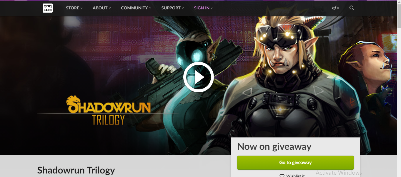 The Shadowrun Trilogy is now available in GOG