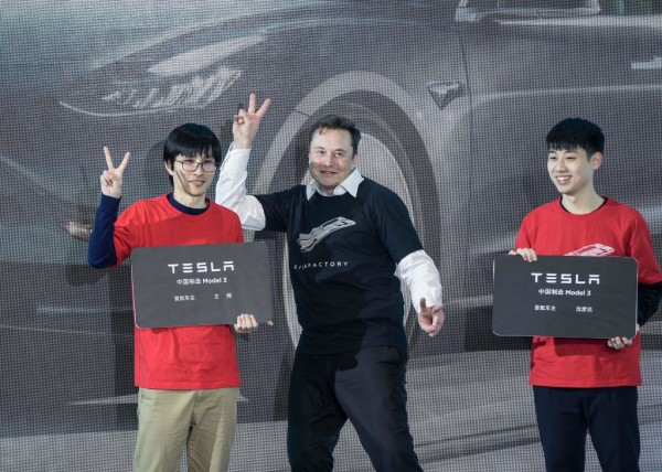 Elon Musk Tesla Giga Shanghai