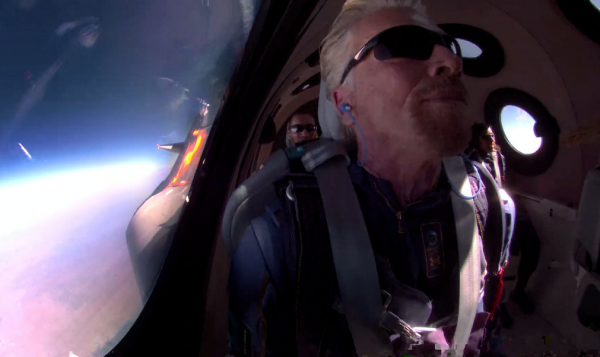 Virgin Galactic's CEO Richard Branson Rides Bike To Reach Unity 22 Launch Site: Is This Part Of His Conditioning?