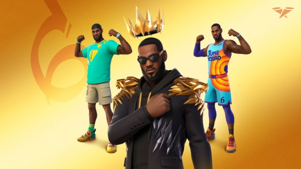 LeBron James Icon Series Skins on Fortnite