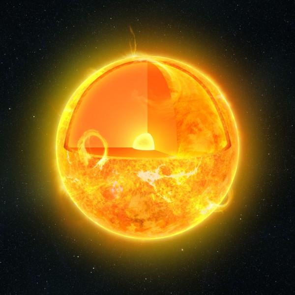 Sun Cutaway Illustration