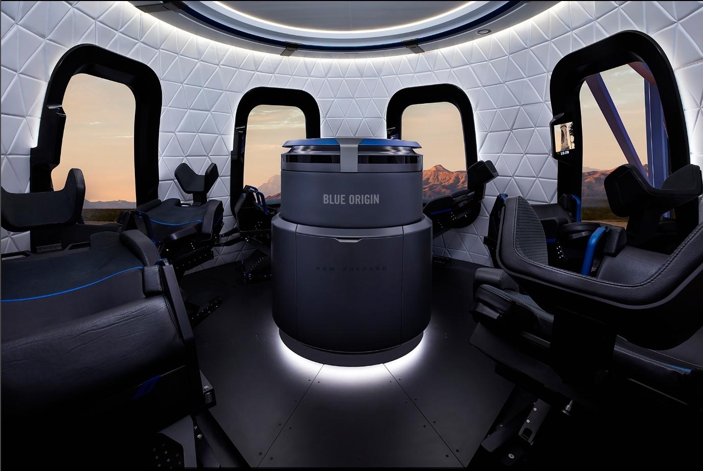 Capsule Interior / Blue Origin