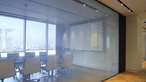 Smart Glass in a Building Meeting Room