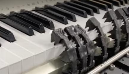 Soft Piano Powered by Pneumatic RAM
