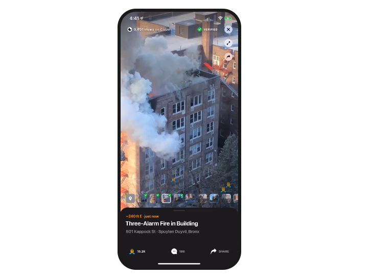 New Yorkers Can Earn Up to $200 a Day by 'Livestreaming' a Crime Scene! Introducing the Citizen App