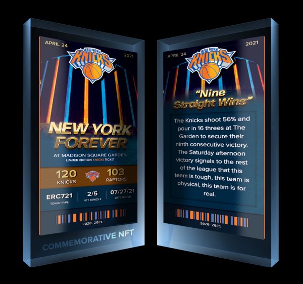Knicks NFTs Limited Edition is now here.