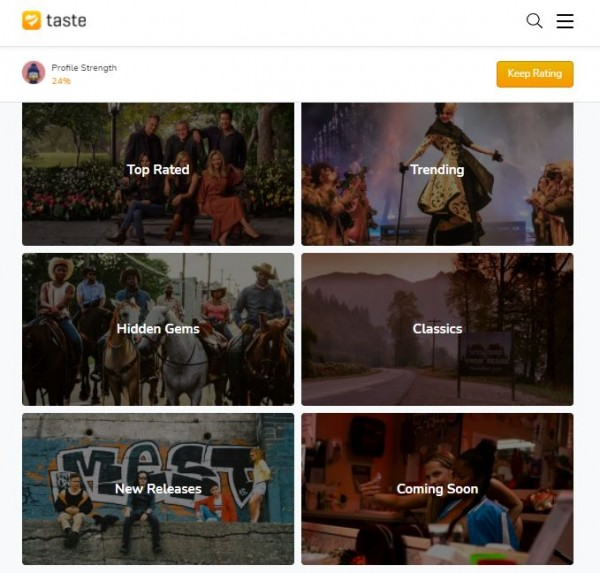 Taste Homepage
