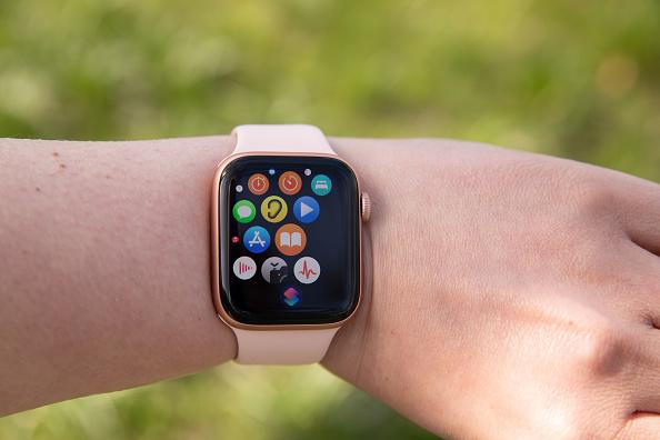 Apple watch on hand