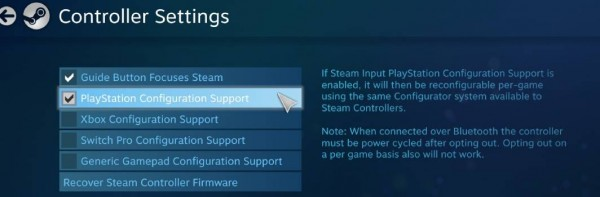 Ps5 controller configuration support