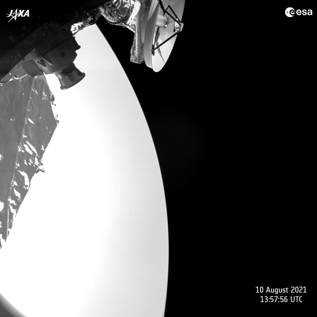 BepiColombo's Overexposed Selfie with Venus