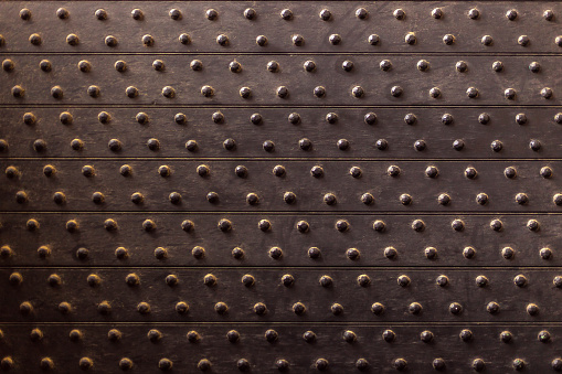 Steel sheet with rivets