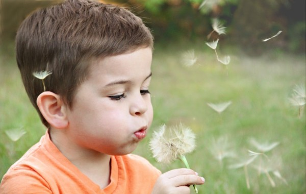 A Kid Blowing
