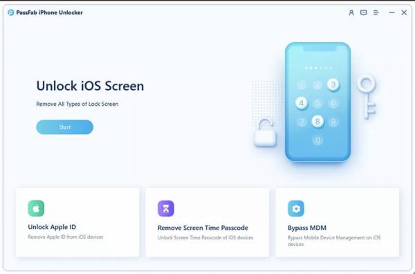 PassFab iPhone Unlocker Step 1