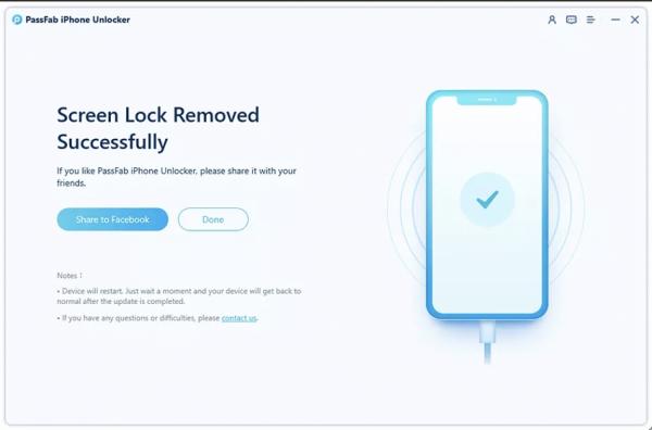 PassFab iPhone Unlocker Step 5
