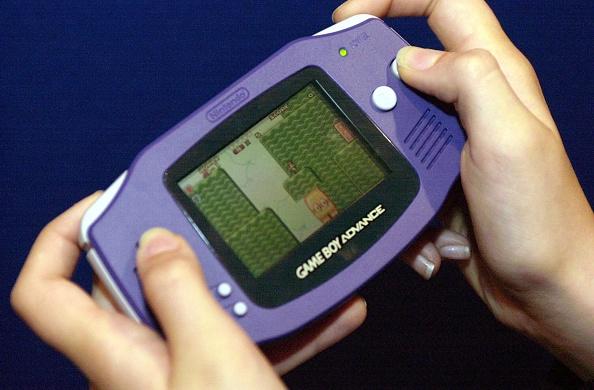 Nintendo game boy advance purple