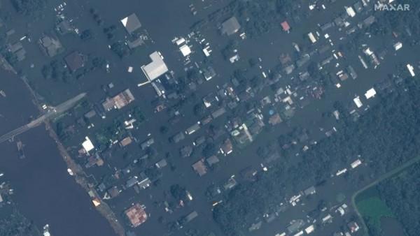 Jean Lafitte, Louisiana after Hurricane Ida