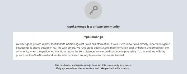 r/PokemonGo Subreddit Goes Dark in Protest Against Reddit