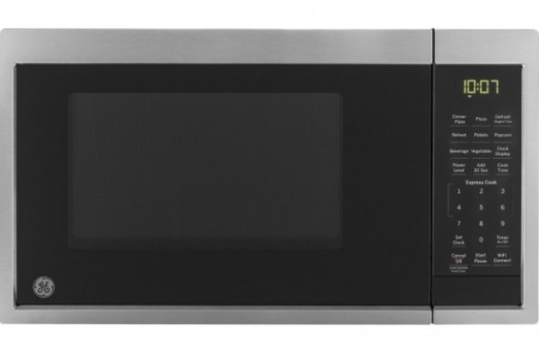 GE 0.9 Cu. Ft. Capacity Smart Countertop Microwave Oven with Scan-To-Cook Technology