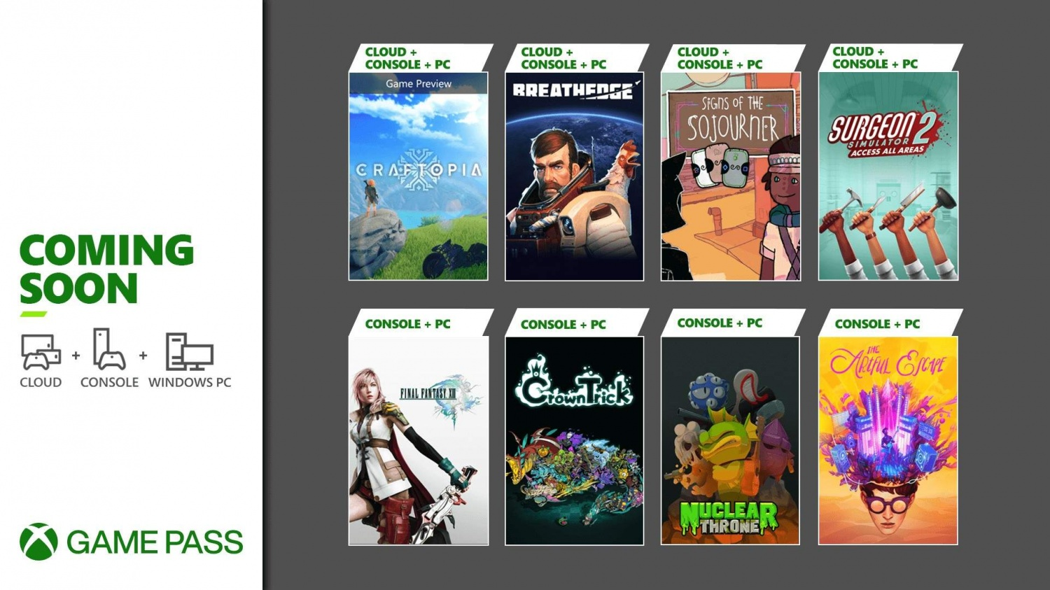 Xbox Game Pass September Free Games