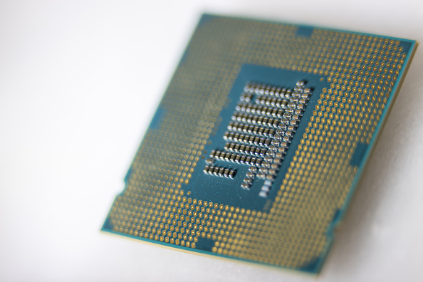 Intel cpu closeup