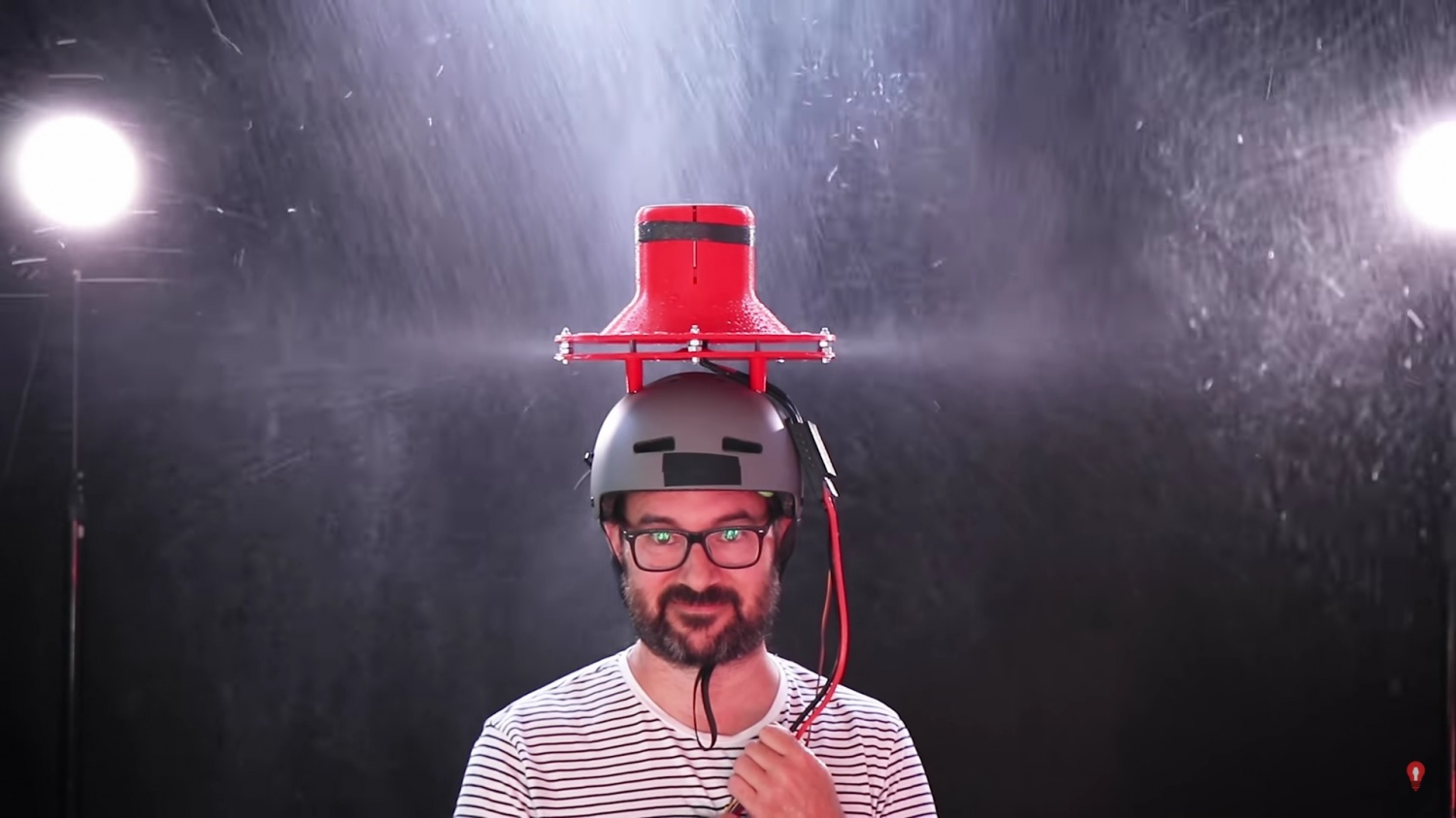 This 3D Printed Turbine Umbrella Hat Will Keep You Dry During Rainy Days