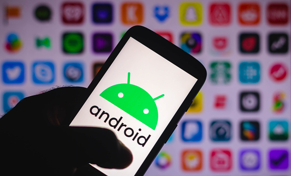 Android 12 logo phone