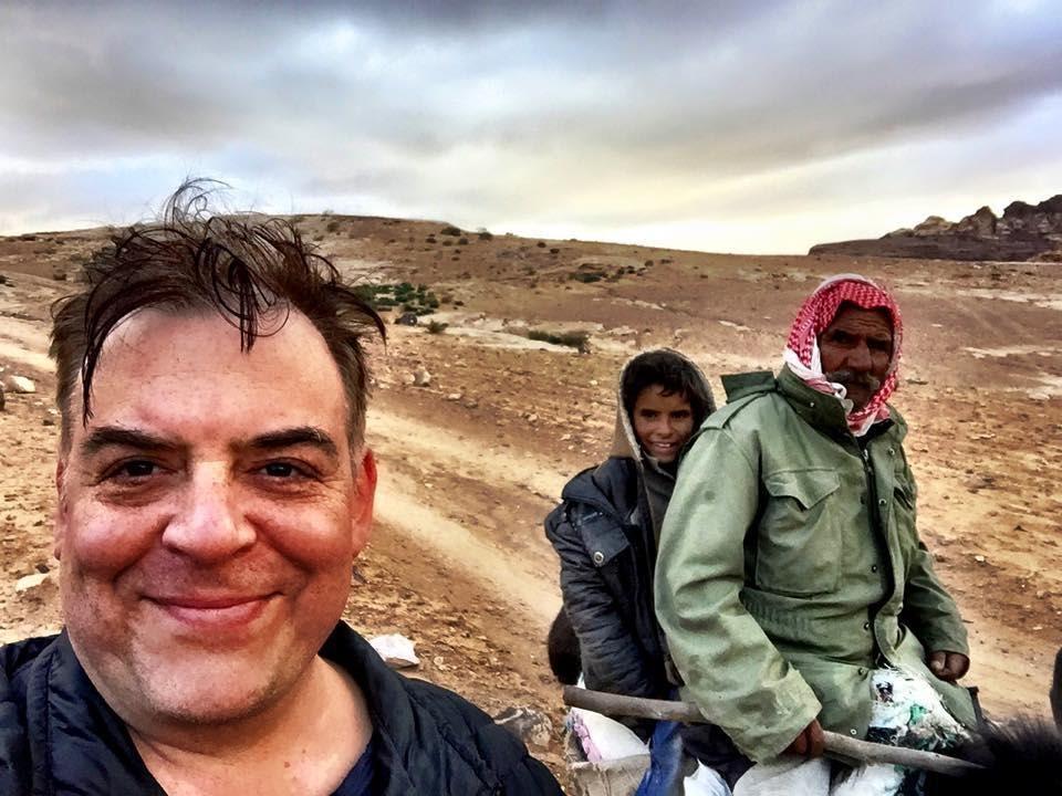 Phil Fischer with Jesus Lives Delivers Impassioned Sermon in Palestine