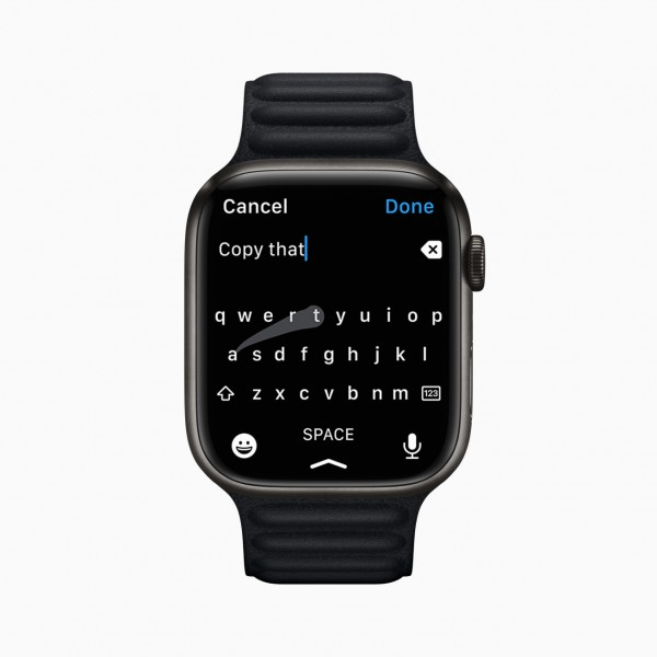 Apple Watch Series 7's Swipe Keyboard