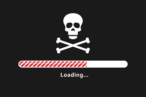 Piracy art skull