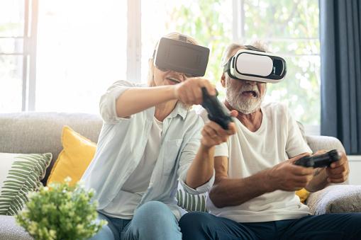 Gaming elderly people