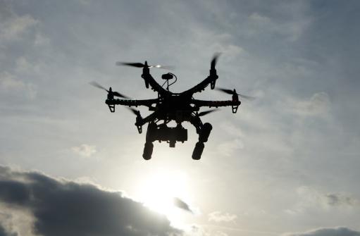 Drones airborne