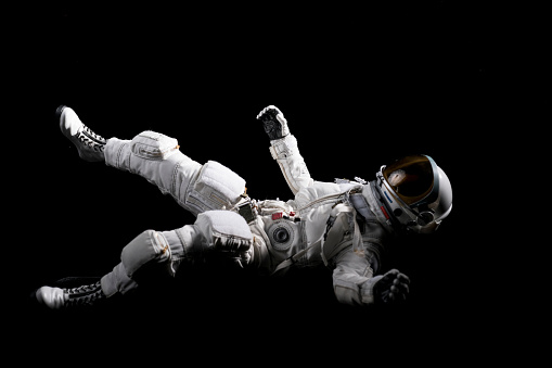Astronaut floating