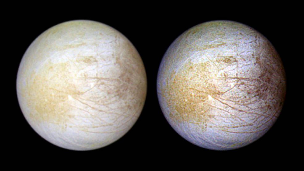NASA Hubble Sees Jupiter Icy Moon of Europa