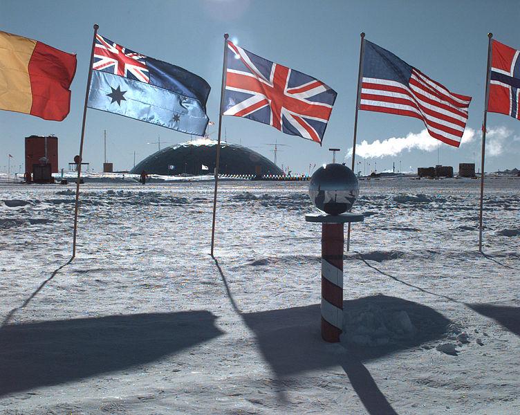 The Amundsen-Scott Station in Antarctica